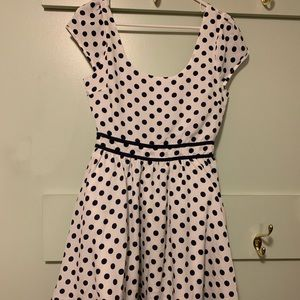 Lucca Couture polka dot mini dress. Size 6.